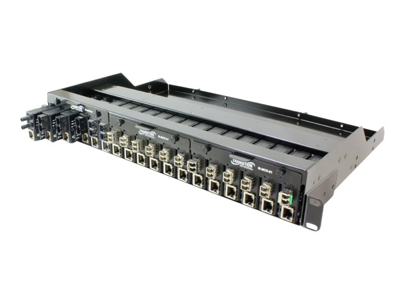 Transition 18-Slot Mini Media Converter Chassis for 19 Racks