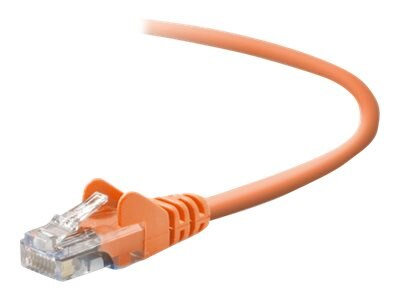 Belkin Cat5e Patch Cable, Orange, 25ft, Snagless, A3L791-25-ORG-S