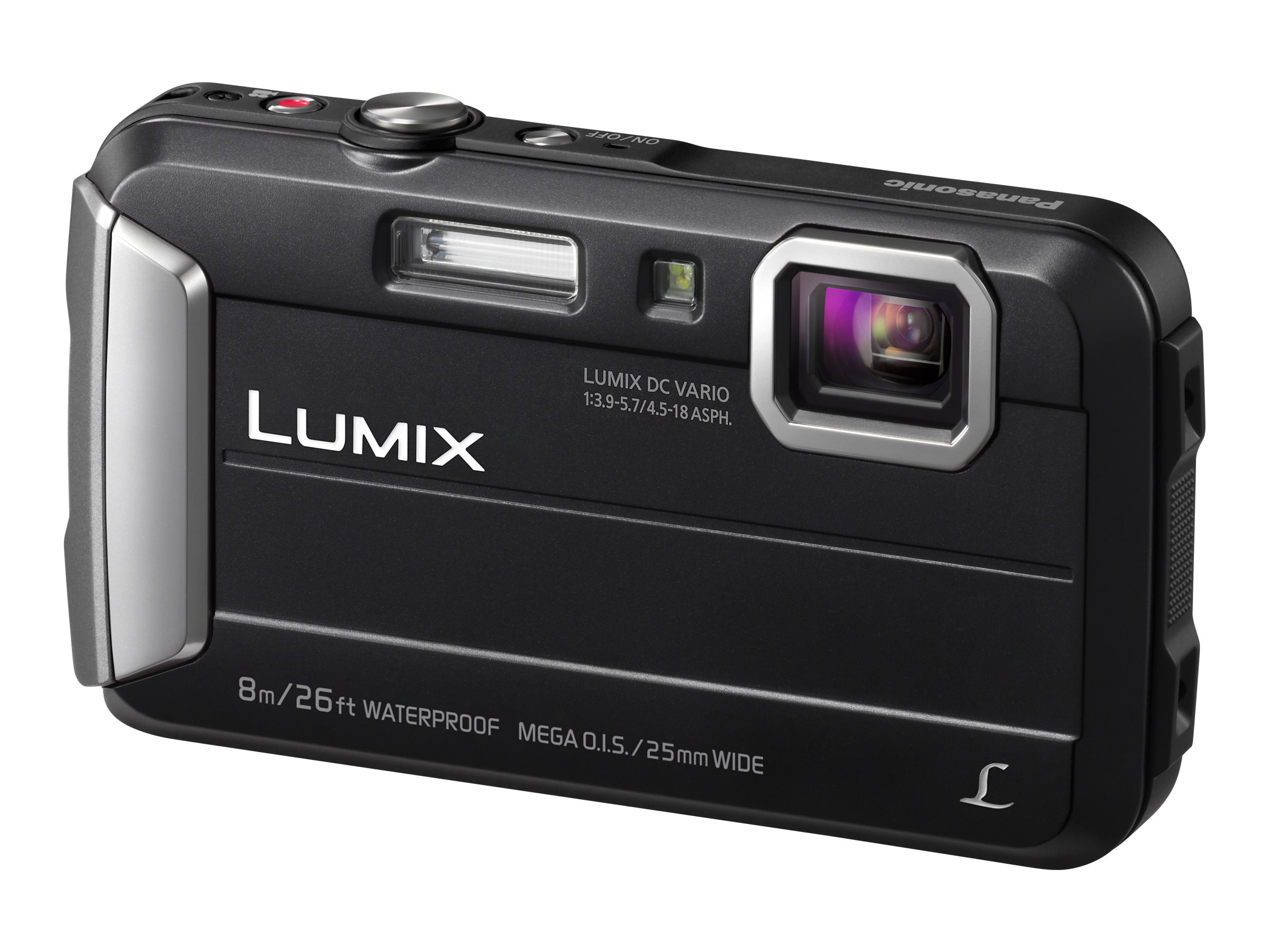 Panasonic 16.1MP Active Lifestyle Tough Waterproof Camera, Black, DMC-TS30K, 20459636, Cameras - Digital - Point & Shoot