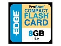 Edge 8GB High Capacity CompactFlash Memory Card, 133X, PE222024, 10168536, Memory - Flash