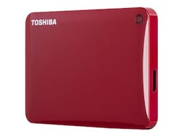 Toshiba 3TB Canvio Connect II Hard Drive - Red, HDTC830XR3C1, 18739794, Hard Drives - External
