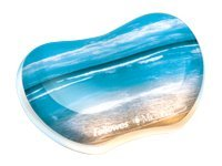Fellowes Photo Gel Utility Wrist Rest with Microban, Sandy Beach