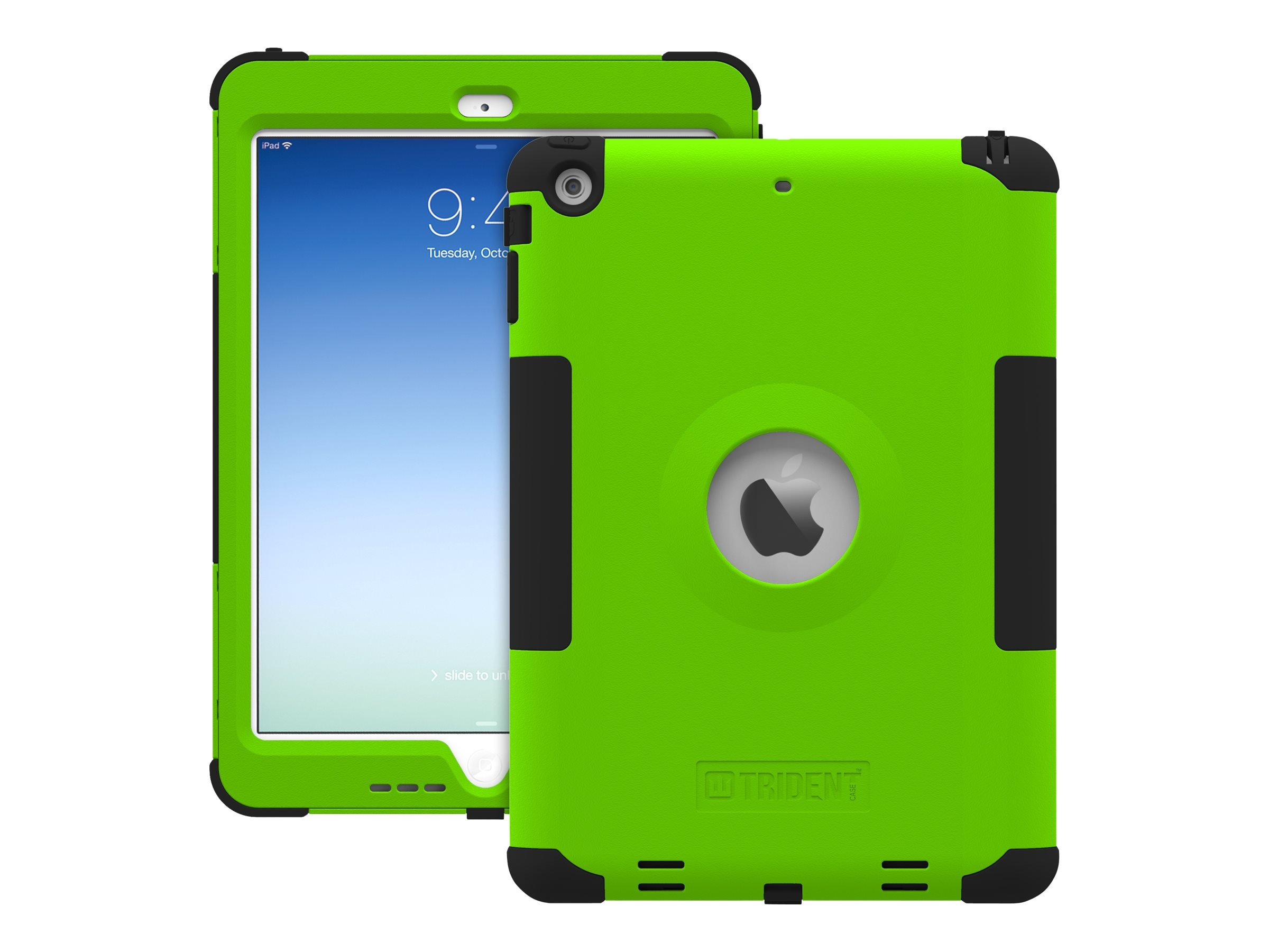 Trident Case Kraken AMS Case for Apple iPad Air, Green, AMS-APL-IPAD5-TG, 17020788, Carrying Cases - Tablets & eReaders