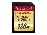 Transcend 128GB UHS-1 SDXC Memory Card, Class 10, TS128GSDU3, 31263778, Memory - Flash