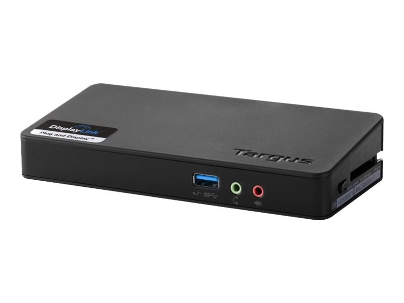 Targus USB 3.0 Superspeed Single Video Docking Station, Black, ACP076US, 15676020, Docking Stations & Port Replicators