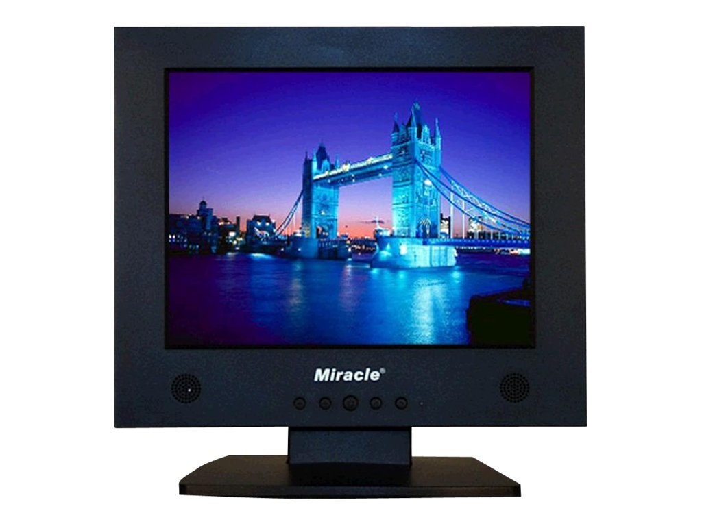 Miracle Business 10.4 LD117A Analog LCD Monitor, Black, LD117A, 6583657, Monitors - LCD