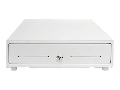 Star Micronics Cash Drawer, 13W x 13D, Printer Driven, 4-Bill 5-Coin Tray, (2) Media Slots, Cable, White