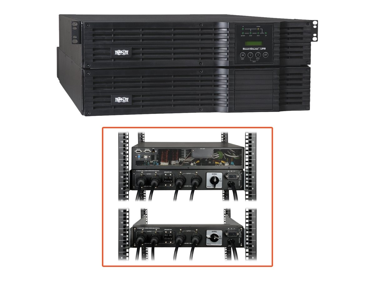 Tripp Lite SmartOnline 8000VA 5600W 4U Rackmount Tower UPS Dual Voltage Output, SU8000RT4U, 8235242, Battery Backup/UPS
