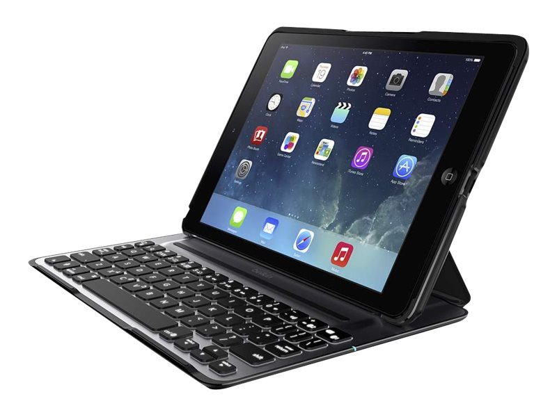 Belkin QODE Ultimate Pro Keyboard Case for iPad Air, Black, F5L171TTBLK, 18816411, Keyboards & Keypads
