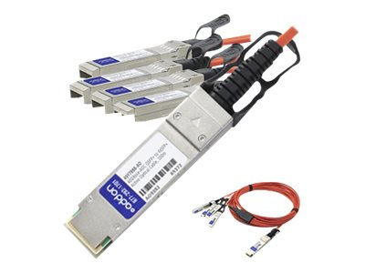 ACP-EP 40GBase-AOC QSFP+ to 4xSFP+ Direct Attach Cable for Cisco, 7m, QSFP-4X10G-AOC7M-AO, 18191571, Cables
