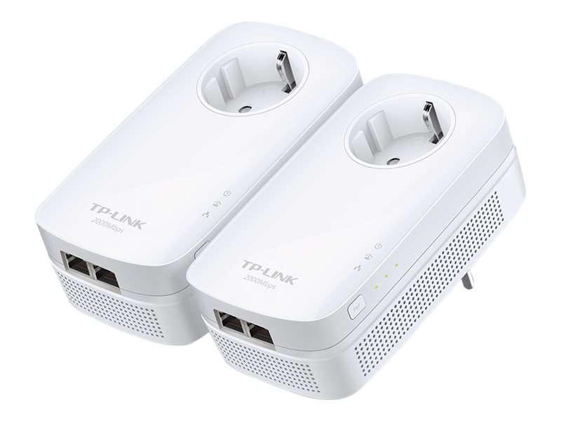 TP-LINK AV2000 2-Port Gigabit Passthrough Powerline Starter Kit (2-Pack), TL-PA9020P KIT