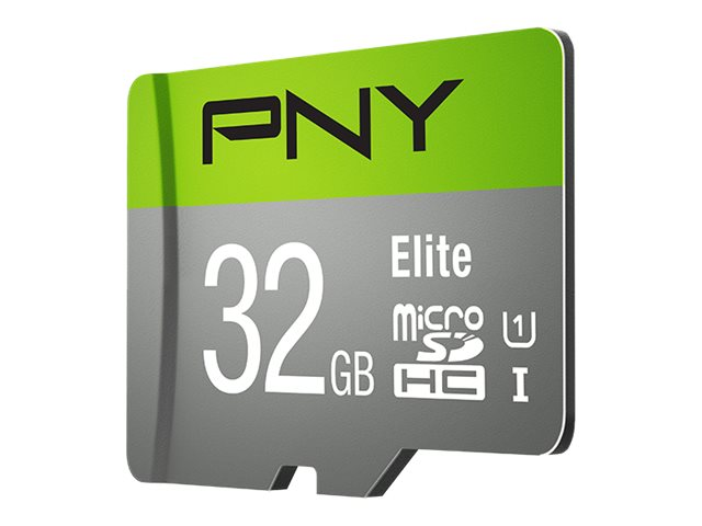 PNY 32GB MicroSDHC UHS-I Card with SD Adapter, P-SDU32U185EL-GE