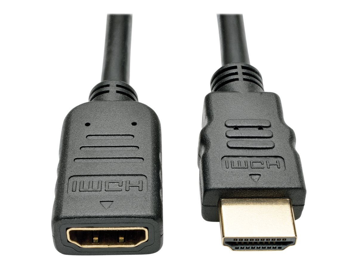 Tripp Lite High-Speed 4K Ultra HD HDMI M F Extension Cable w  Ethernet and Digital Video with Audio, Black, 6ft, P569-006-MF