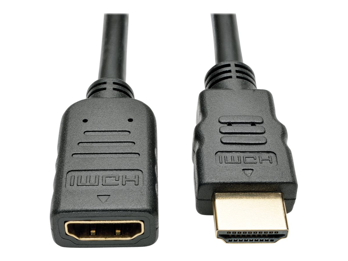Tripp Lite High-Speed 4K Ultra HD HDMI M F Extension Cable w  Ethernet and Digital Video with Audio, Black, 6ft, P569-006-MF, 30824086, Cables