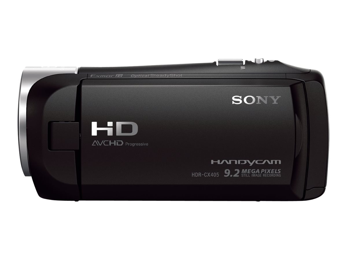 Sony 2.51MP CX405 HD Handycam, Black, HDRCX405/B