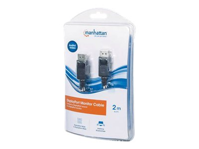 Manhattan DisplayPort M M Cable, Black, 2m