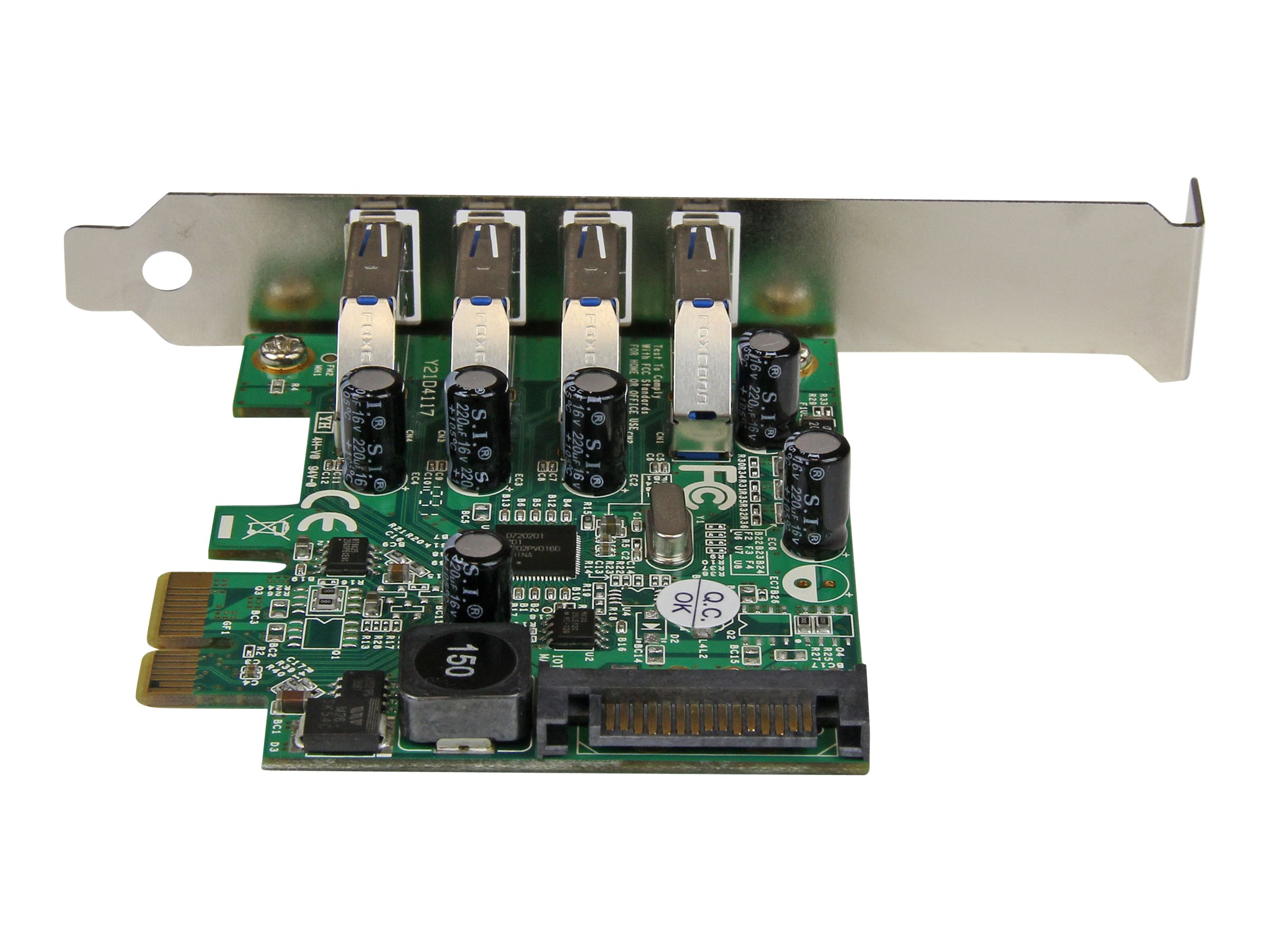 StarTech.com 4 Port PCI Express SuperSpeed USB 3.0 Card with UASP - SATA Power