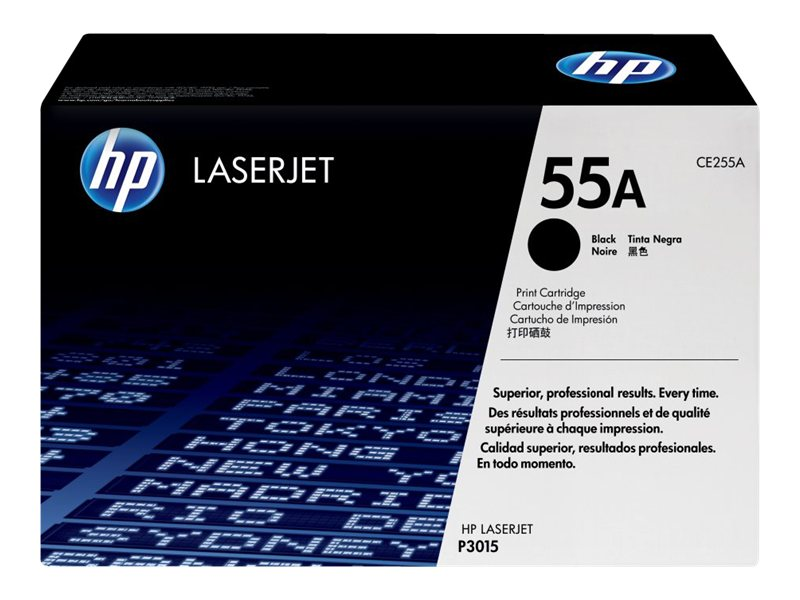 HP 55A Black Toner Cartridge for HP LaserJet P3015 Printer (TAA Compliant)