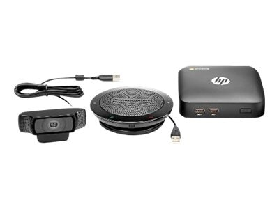 HP Chromebox for Meetings Bundle with Webcam, Speaker Microphone & Remote