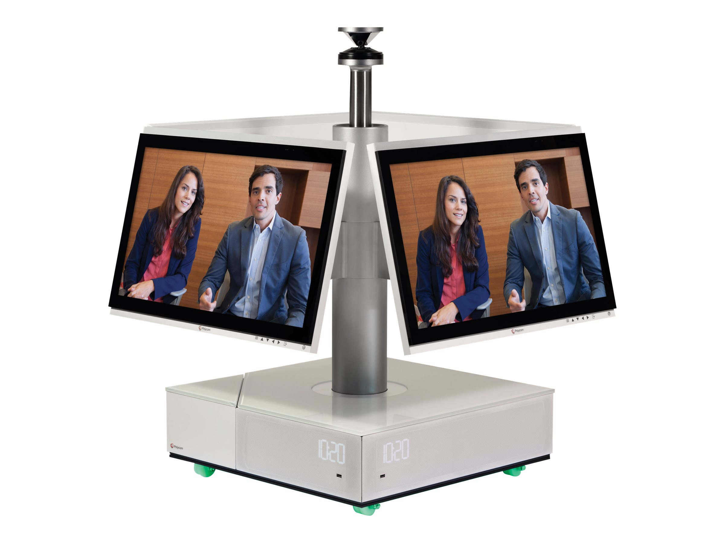 Polycom RP Centro Visual Colab Solution, 360C Mic Speakers, 4x27-inch TCH Power Cord