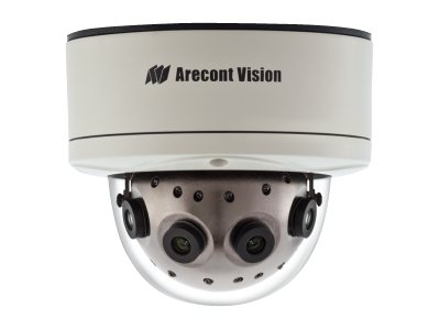 Arecontvision 12MP 180 Degree WDR Panoramic IP Day Night Vandal Resistant Dome Camera, AV12186DN