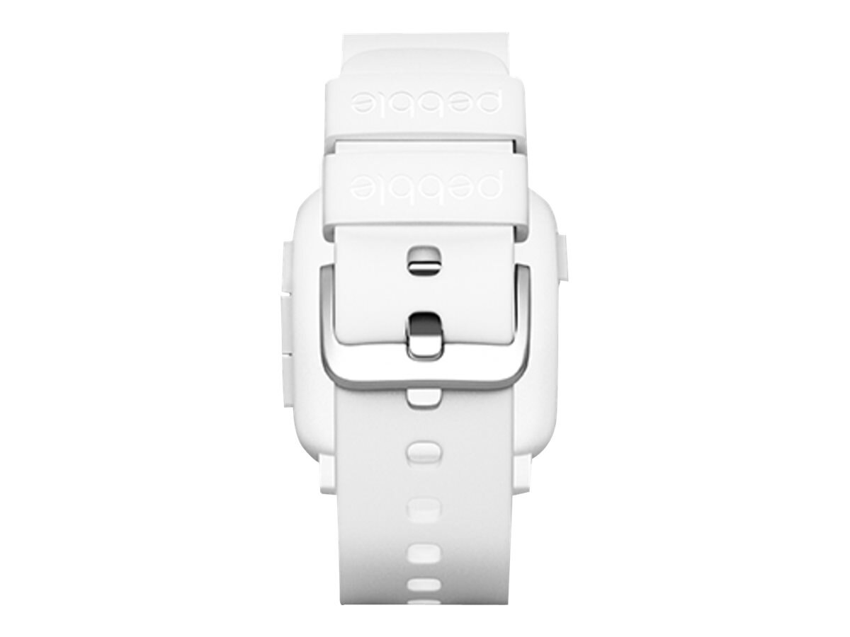 Pebble Time Smartwatch, White, 501-00021