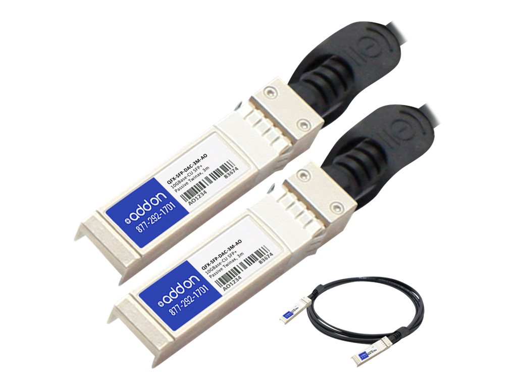 ACP-EP Juniper Networks Compatible 10GBase-CU SFP+ Transceiver Twinax DAC Passive Cable, 3m, QFX-SFP-DAC-3M-AO