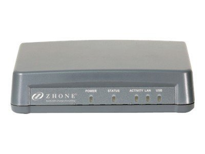 Zhone ADSL2+ R Ethernet Port CPE Bridge Router w  USB 110V NA Plug, 6381-A5-200, 13101880, Network Routers