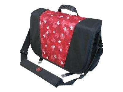 Mobile Edge Sumo Messenger Bag, Black Red, ME-SUMO33MB7, 10196377, Carrying Cases - Notebook