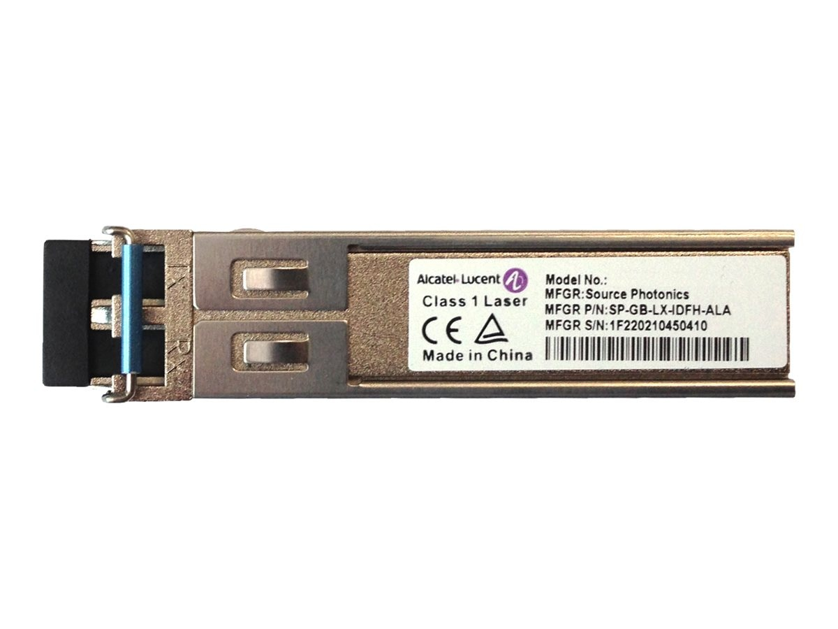 HPE Alcatel-Lucent 7x50 1-port 1000BASE-LX SFP Single Mode 10km LC Connector Transceiver, JL159A