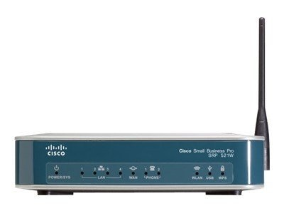 Cisco SRP521W FE WAN 802.11N-FCC 128DRAM 64 FL 2FXS, SRP521W-U-A-K9, 13631071, Wireless Access Points & Bridges