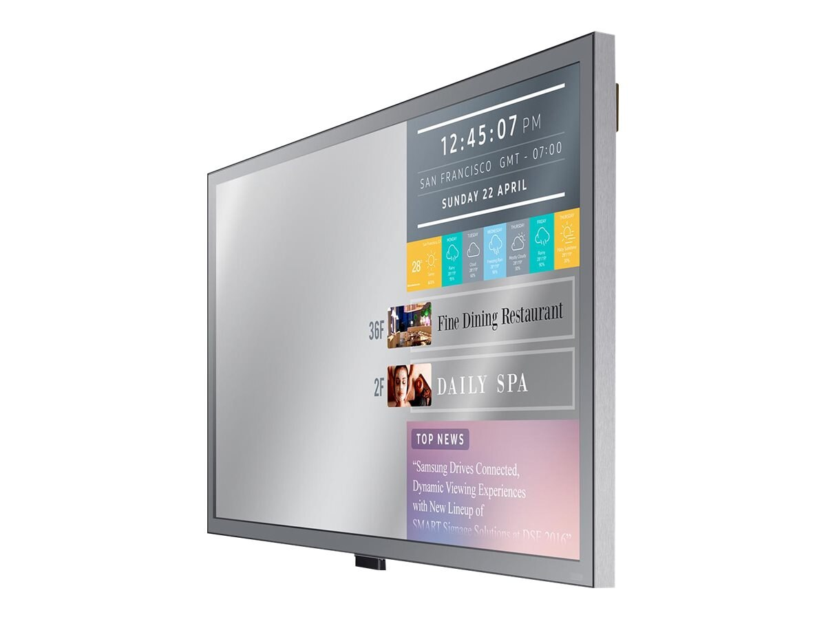Samsung 55 ML55E Full HD LED-LCD Mirror Display, Black, ML55E