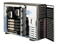 Supermicro Tower, eATX, 8xSAS SATA, 1400W RPSU, Black, CSE-747TQ-R1400B, 10190080, Cases - Systems/Servers