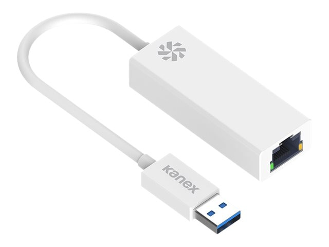 Kanex USB 3.0 Type A to RJ-45 M F Adapter, White, K118-U3E-WT8I, 30653441, Adapters & Port Converters