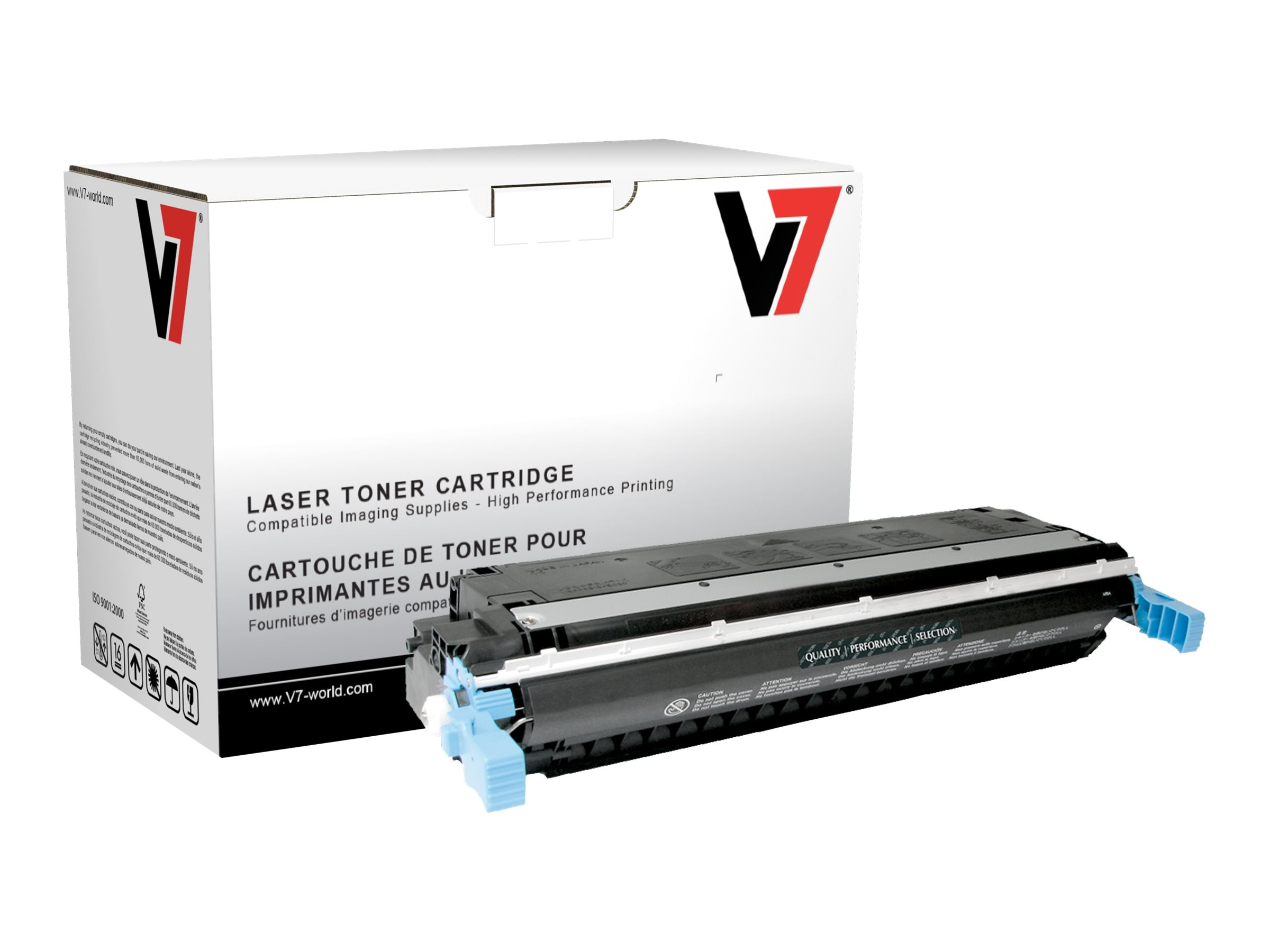 V7 C9730A Black Toner Cartridge for HP LaserJet 5500 (TAA Compliant)
