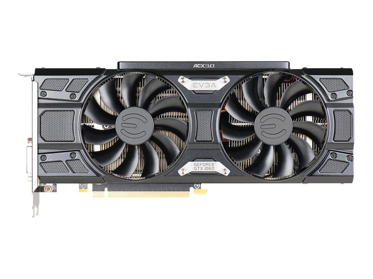 eVGA GeForce GTX 1060 FTW+ PCIe 3.0 x16 Graphics Card, 6GB GDDR5, 06G-P4-6368-KR