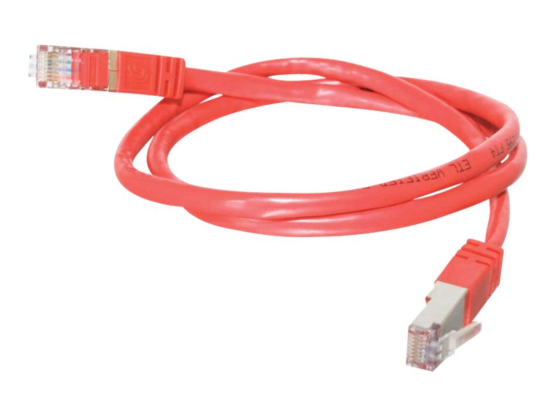 C2G Cat5e Shielded Molded Patch Cable, Red, 10ft