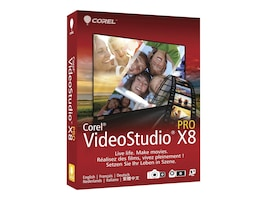 Corel VideoStudio Pro X8 ML MiniBox, VSPRX8MLMBAM, 18464698, Software - Video Editing