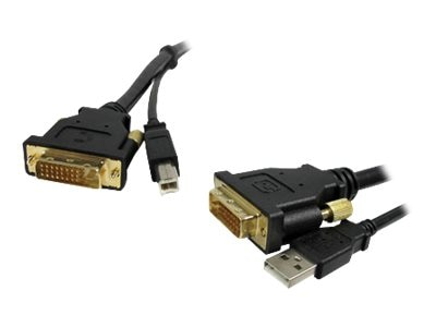 Comprehensive DVI (M-M) with USB Cable, 10ft