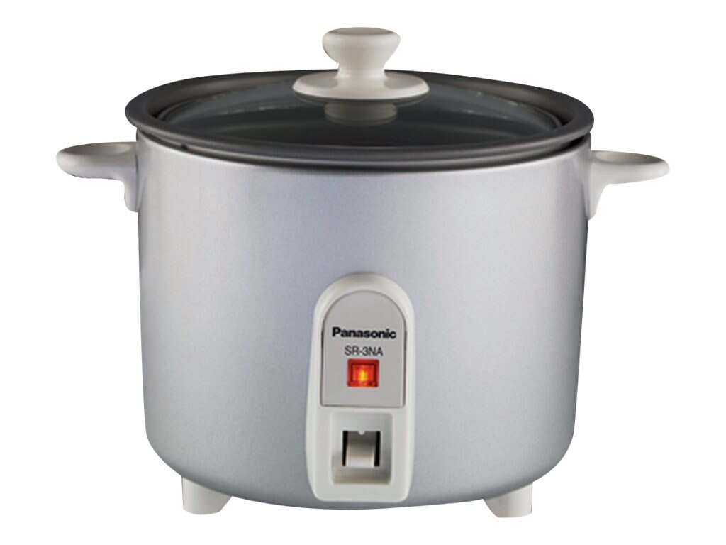 Panasonic 1.5-Cup Rice Cooker Steamer, SR-3NA-S, 12424100, Home Appliances