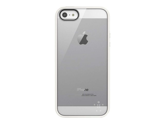 Belkin View Case for iPhone 5 5s, Clear Whiteout, F8W153TTC07, 14861012, Carrying Cases - Phones/PDAs