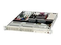 Supermicro Chassis, 1U Rackmount, CSE-811I-410, Dual Xeon, 800MHz, 2x 3.5 Drive Bays, 410W PS, Black, CSE-811I-410B, 6461692, Cases - Systems/Servers