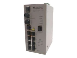 Allied Telesis 8-port 10 100T Industrial Managed PoE Switch with 2 SFP Combo Port, AT-IFS802SP/POE(W)-80, 13667630, Network Switches