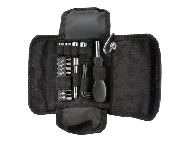 QVS 19-Piece Technician Tool Pouch w Kit Carabiner, CA216-K1, 31196229, Network Tools & Toolkits