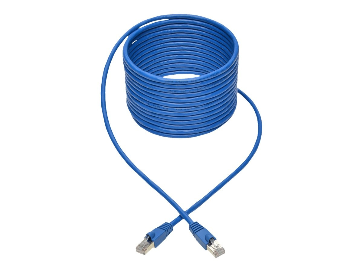 Tripp Lite Cat6a 10G-Certified Snagless Shielded STP PoE Network Patch Cable, Blue, 20ft