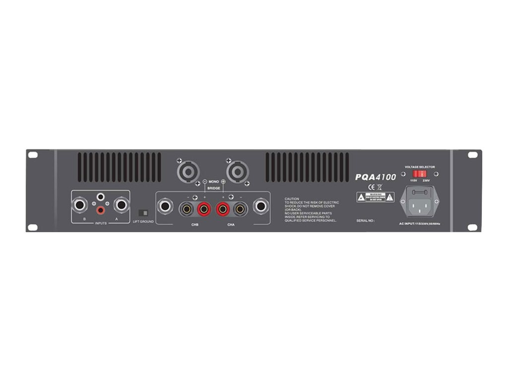 Pyle 19 Rack Mount 4100 Watts Professional Power Amplifier with Digital SMT Technology, PQA4100