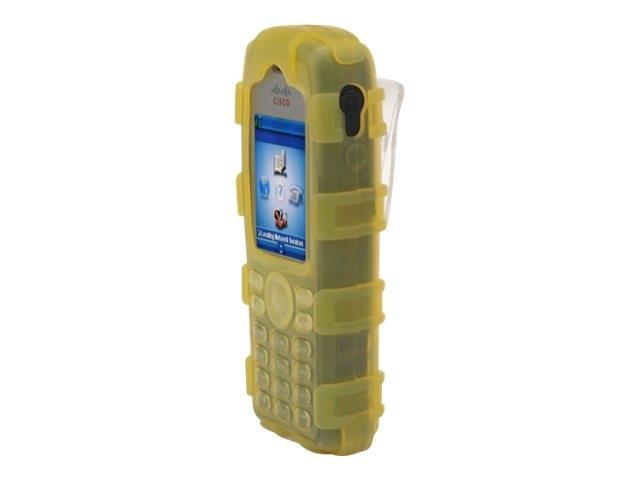Zcover Silicone Ruggedized Dock-in-Case for Cisco 7925G 7925G-EX, Yellow, CI925HQY, 16579889, Carrying Cases - Phones/PDAs