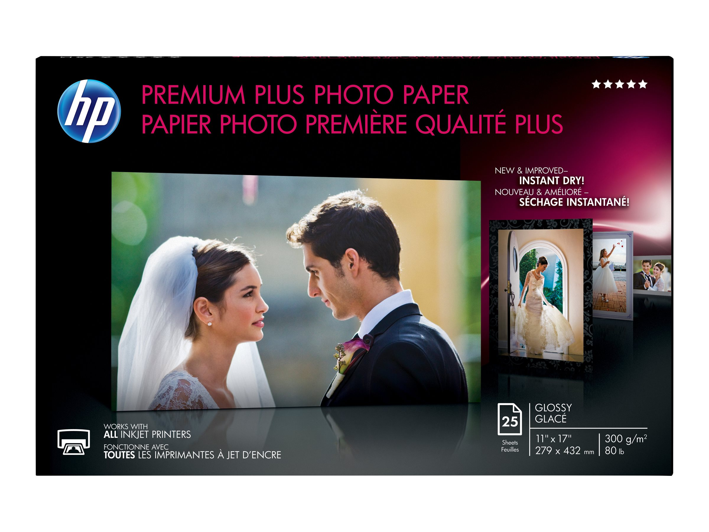 HP 11 x 17 Premium Plus Glossy HPS Highest-Quality Photo Paper