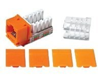 C2G Cat6 RJ-45 Keystone Jack, Orange, 29315, 5185403, Premise Wiring Equipment