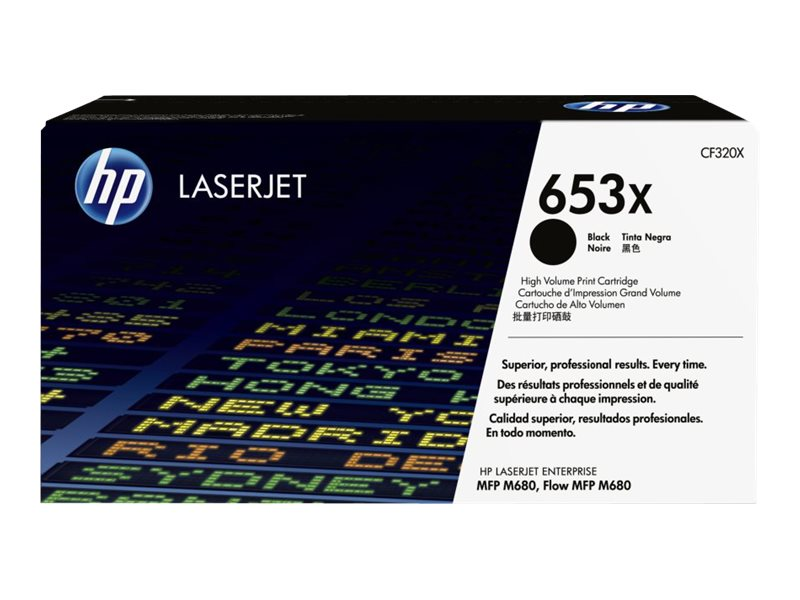 HP 653X (CF320X) High Yield Black Original LaserJet Toner Cartridge for HP Enterprise MFP M680 Series, CF320X, 17074111, Ink Cartridges & Ink Refill Kits
